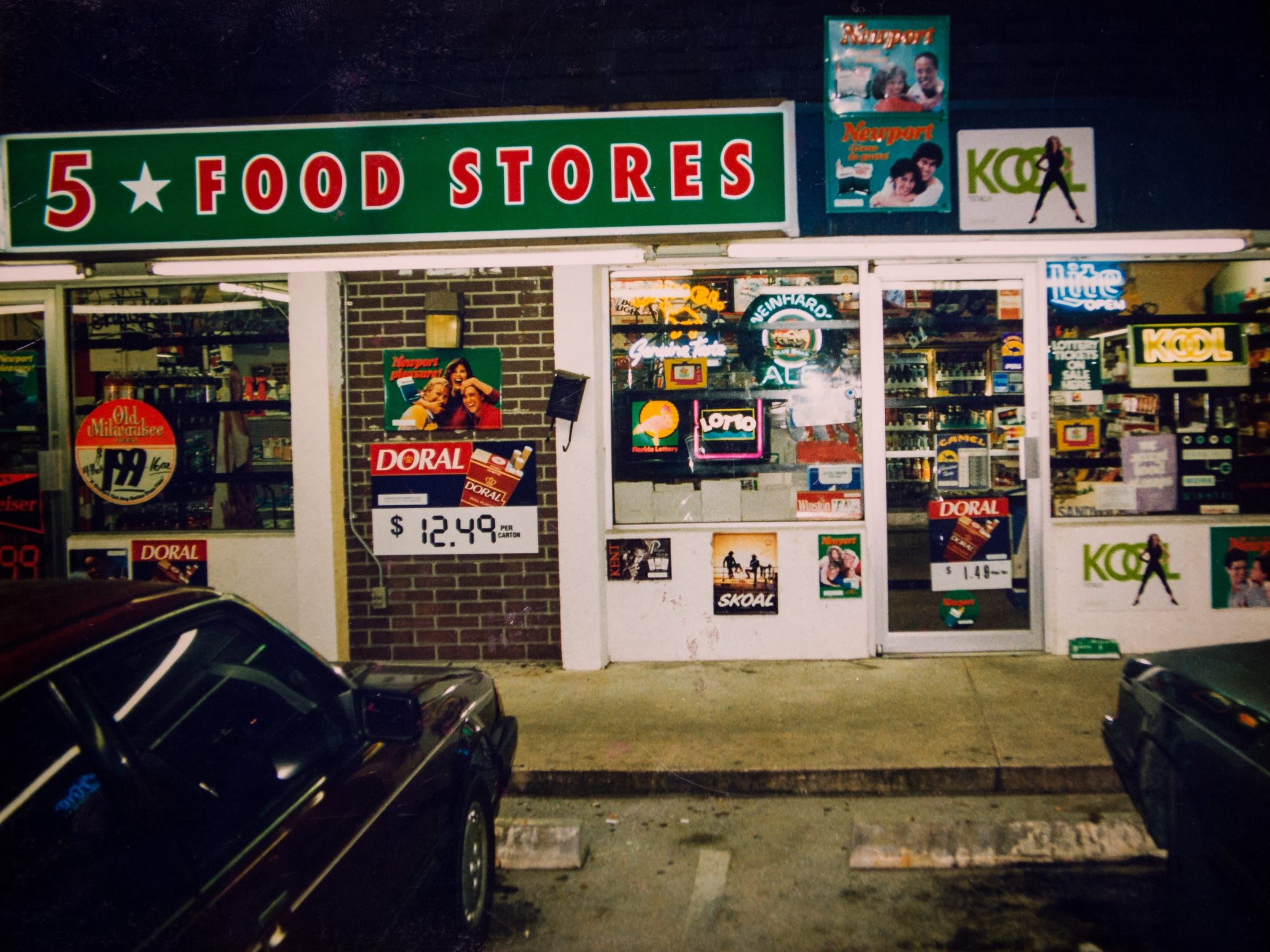 The Five Star Food Store family business on Indrio Road in Lakewood Park, where Tariq Hussain was working when he was shot and killed in 1995, is seen in an evidence photo from the case. Lanadieal Ashe, of Fort Pierce, 17 years old at the time, was later convicted of Hussain's murder.