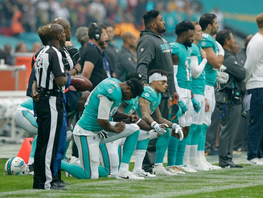 NFL continues national anthem