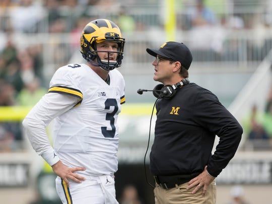 Jim Harbaugh brought in Pep Hamilton and Scott Turner to work with Wilton Speight and Michigan's offense.