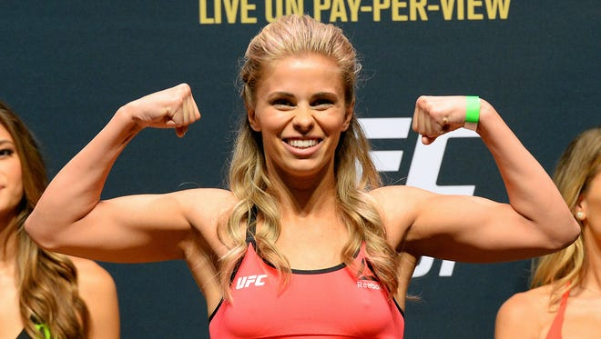 Paige VanZant during the weigh-in for UFC 191.