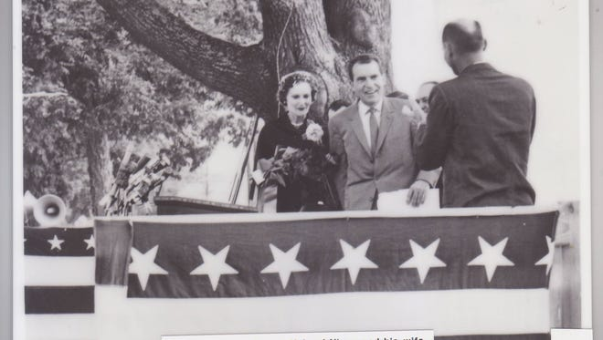 No tricks just yet Vice President Richard Nixon and his wife, Pat, attended a rally in support of his presidential goals at the Postal Square in Lafayette in 1960. Nixon lost to John F. Kennedy, but later ascended to the presidency in 1969 only to relinquish it in 1974 after the Watergate scandal.