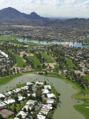 Aerial view of McCormick Ranch in Scottsdale