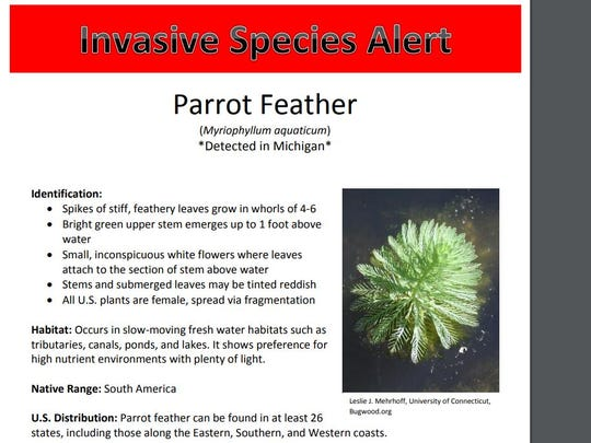The Michigan Department of Natural Resources posted this alert on its website