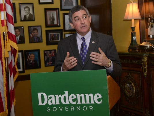 ANI Dardenne Governor Announcement Jay Dardenne, lieutenant governor of Louisiana, announces his candidacy for governor Tuesday, April 7, 2015 at Bistro on the Bayou located at England Airpark.-Melinda Martinez/mmartinez@thetowntalk.com