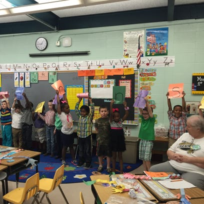 First graders in Mrs. Gill's classroom put on a performance