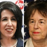 County executive candidates Cheryl Dinolfo, left, and Sandra Frankel.