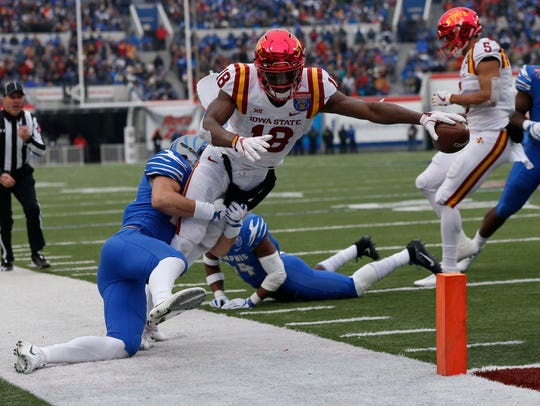 Iowa State's Hakeem Butler is graduating from a strong second or third option in the Cyclones' passing offense to the unquestioned No. 1 wideout heading into the 2018 season.
