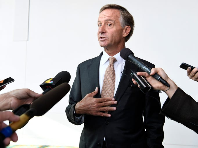 Gov. Bill Haslam answers questions about whether he