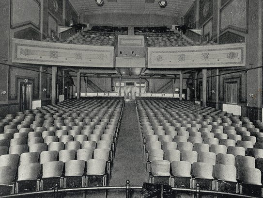 The view of the Rialto's interior from the front of