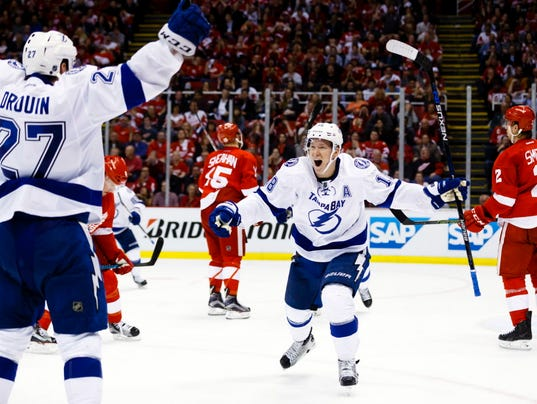 USP NHL: STANLEY CUP PLAYOFFS-TAMPA BAY LIGHTNING S HKN USA MI