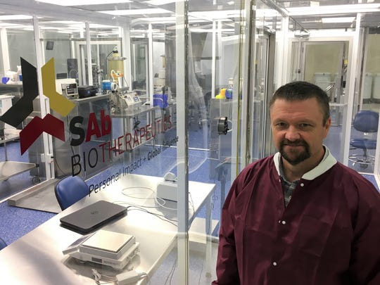 Eddie Sullivan, president and CEO of SAB Biotherapeutics, outside the company's facilities housed in Sanford Research in Sioux Falls.