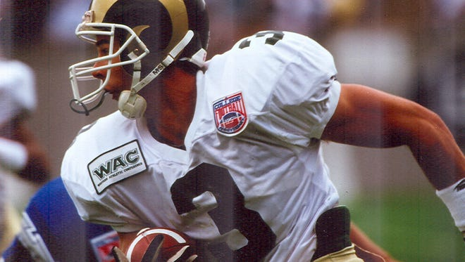 Greg Myers won the Jim Thorpe Award as the top defensive back in the nation in 1995.