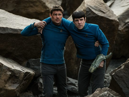 Karl Urban plays Bones and Zachary Quinto plays Spock