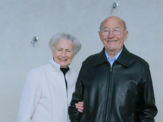 Brenda and Eugene Hamblock of Redding attend the Polar