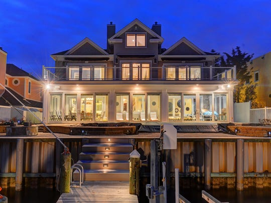 The exterior of a Point Pleasant waterfront mansion.