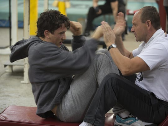"""Miles Teller and Aaron Eckhart in """"Bleed For This."""""""