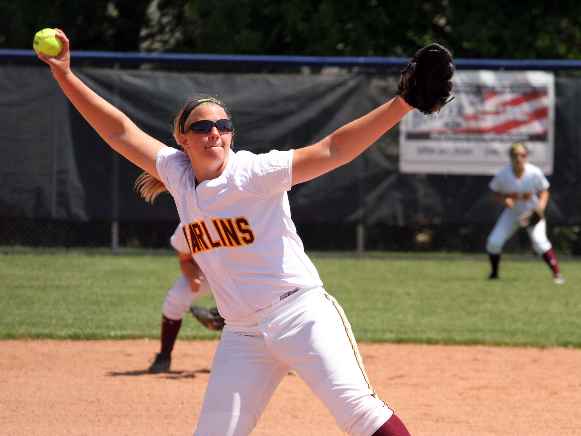 Junior Abby Krzywiecki made some big plays as a pitcher and hitter to help Mercy win the Jack Falvo Memorial Tournament.