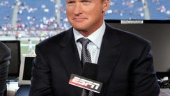 In this Sept. 14, 2009, file photo, ESPN broadcaster