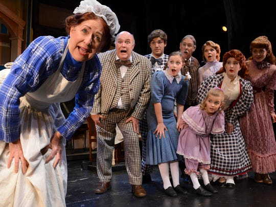 "Cass Stark plays Katie (far left) in the production ""Meet Me in St. Louis"" at Cocoa Village Playhouse."