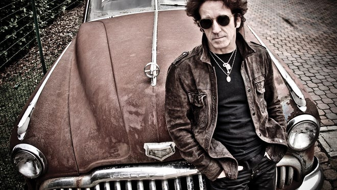 Singer Willie Nile takes the stage at the Ossining Public Library's Budarz Theater on May 18, 2014.