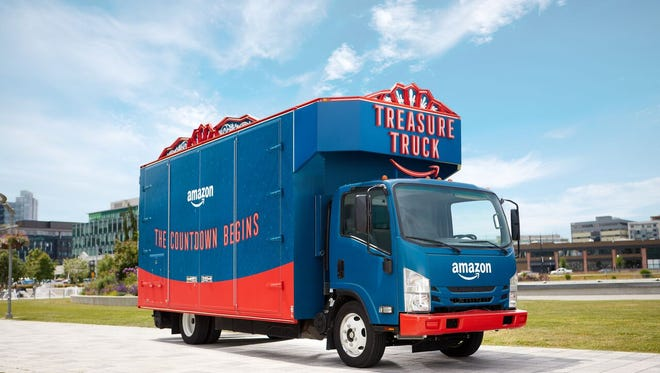 An Amazon shopping promotion known as the Treasure Truck will make its Indianapolis debut.
