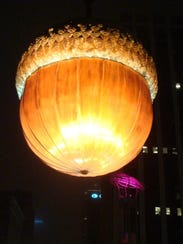 in Raleigh, North Carolina, they drop a giant acorn