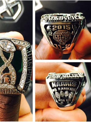 MSU linebacker Darien Harris' Cotton Bowl championship ring.