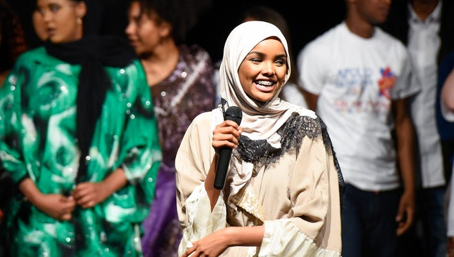 In this file photo, model and former Apollo student Halima Aden made an appearance at the 2017 Apollo High School culture show.