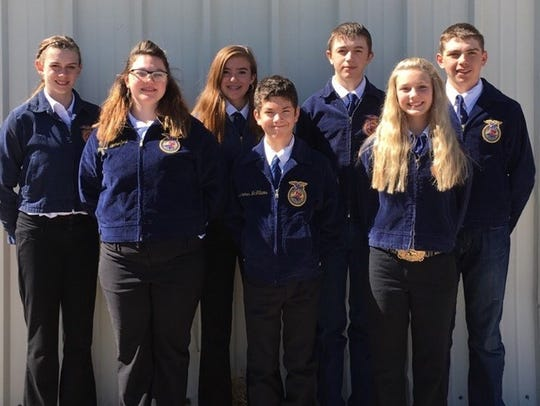 The Capitan FFA team recently competed at a leadership