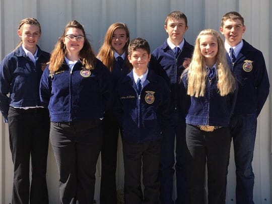 The Capitan FFA team recently competed at a leadership conference in Albuquerque.