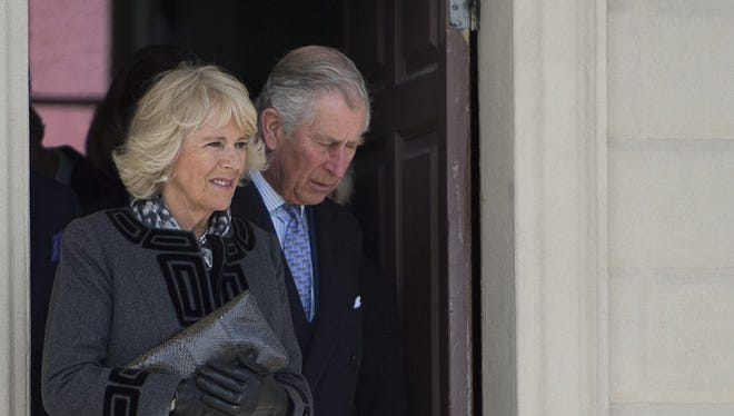Prince Charles & Camilla visit Mount Vernon piazza overlooking the Potomac.