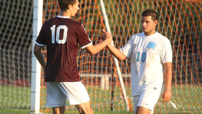Valhalla boys soccer won 2-1 at Rye Neck Sept. 17, 2015.