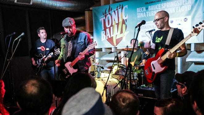 Red Light Driver performs as part of Friday's Tonic Ball in Fountain Square.