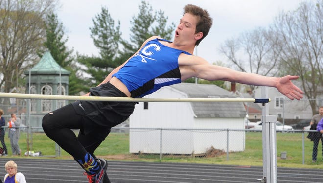 Chillicothe's Will Roderick participates in the high jump earlier this season. Roderick and the Cavaliers finished second in Monday's Huntington Invitational; behind Zane Trace.
