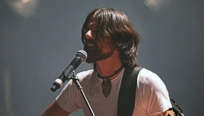 Seth Avett, of the Avett Brothers, performs Thursday at the Murat Theatre in Old National Centre.