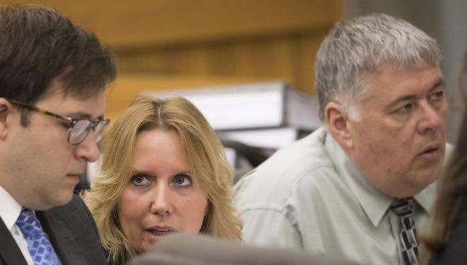 Attorney Brian Calciano represents Donna Ward and Glenn Johnson in a whistleblower trial in Lee Circuit Court.