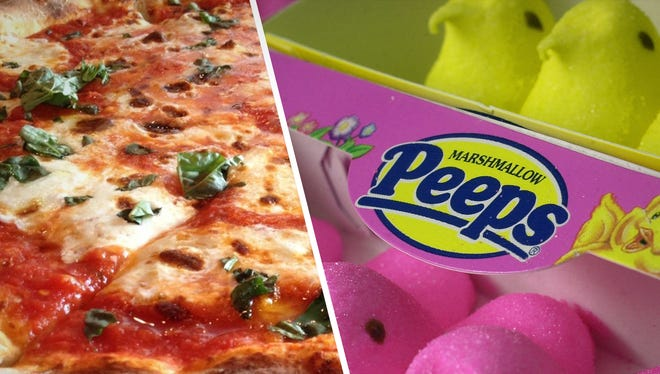 Peeps and pizza don't feel like they should mix, but one Twitter user did just that.