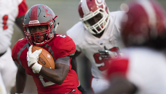 Trey Berry (2) and the Wade Hampton Generals will play at Woodmont Thursday, instead of Friday, because of the threat of bad weather.
