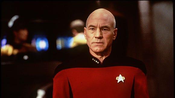 "Patrick Stewart as Capt. Picard on ""Star Trek: The Next Generation"""