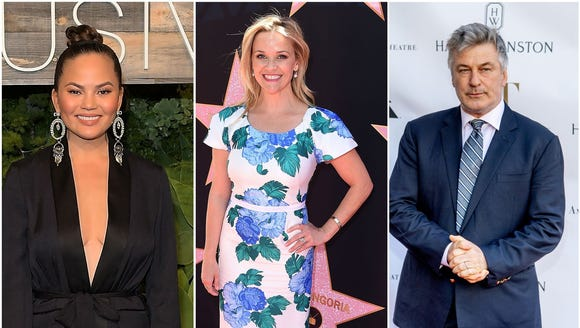Chrissy Teigen, Reese Witherspoon, Alec Baldwin and