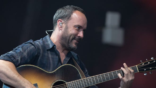 Dave Matthews performs with the Dave Matthews Band Friday at Ruoff Home Mortgage Music Center.