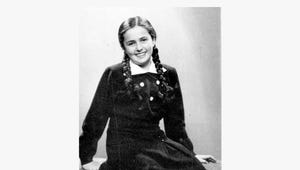 This photo shows a 13-year-old Eva Heyman photographed in Hungary months before she was murdered in a Nazi concentration camp in 1944.