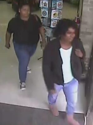Officers with the Scott Police Department are seeking information on these two suspects in the theft of frozen crawfish from a Piggly Wiggly in Scott.