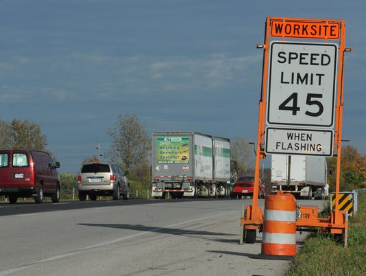 Construction on Interstate 70