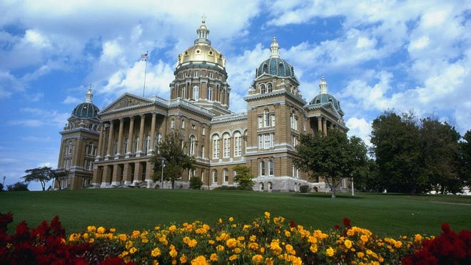 The State of Iowa Capitol.