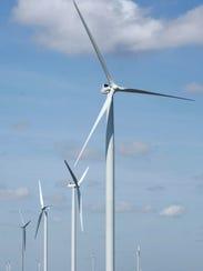 Wind turbines in the Coastal Bend.