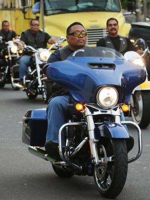 The Regulators, a motorcycle club made up of law enforcement officers or retired officers, held a tribute ride for Guam Police Department Officer Elbert Piolo on July 15. Piolo died Monday after a reported shooting, allegedly at the hands of fellow GPD Officer Mark Torre Jr.