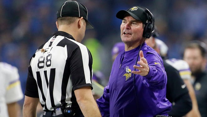 """Vikings coach Mike Zimmer said on Tuesday that he thinks Thursday's game against the Lions in Detroit will have 'a playoff atmosphere."""""""