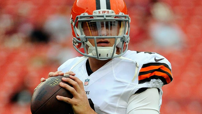 QB Johnny Manziel is currently the Browns' backup.