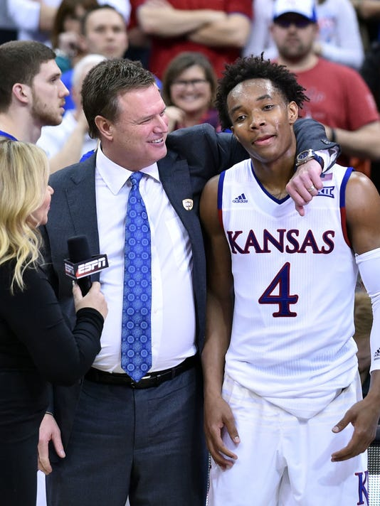 NCAA Basketball: Big 12 Conference Tournament-Kansas vs West Virginia